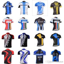 giant bicycle team jersey 2018 - 2018 New Arrival team giant cycling jersey men good quality short bicycle shirts camisa de ciclismo C2910 cheap giant bi