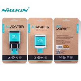 Wholesale Original Nillkin Universal V A Phone Charger AC A US USA EU Europe Standard USB Plug Power Wall Charger For Mobile Cell Phone