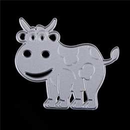 $enCountryForm.capitalKeyWord Canada - Cute Cow Metal Cutting Dies For Scrapbooking Stencils DIY Album Cards Decoration Embossing Folder Die Cuts Template Tool