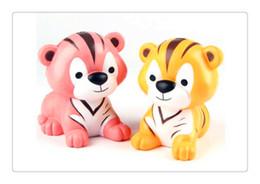 Squishy Adorável Pequeno Tigre Forma Descompressão Brinquedo PU Squeeze Lento Rising Rebote Aliviar Brinquedos Bonitos Crianças Brinquedos de Presente