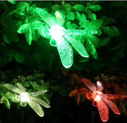 Discount color changing solar path lights Color-Changing LED Solar Landscape Path Light Outdoor Dragonfly Butterfly Bird Lawn Lamps Garden Lawn Landscape Lamp