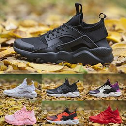sneaker women huarache Australia - Cheap Huarache 4 Man Women Running Shoes Triple black white oreo red grey huraches IV Sport Shoes trainer Huaraches 4 sneakers