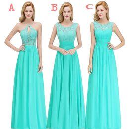 2019 дешевые страна стиль бирюзовый платья невесты на заказ кружева шифон длинные формальные свадебные платья партии гостя BM0052
