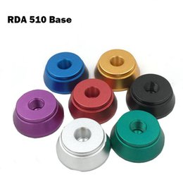 Discount atomizer base threaded Clearomizer Display Base Atomizer Stand RDA 510 base Aluminum Holder for 510 Thread Clearomizers aerotank mega mutation rda RBA tank