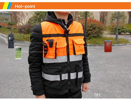 high visibility motorcycle Canada - HZYEYO Reflective safety clothes Motorcycle Bicycle Racing High Visibility Reflective Warning Cloth Jacket Vest D9906
