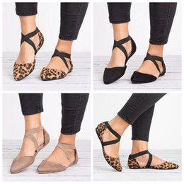 Discount sandals cover toes heel - Womens Flats Pointed Toe Ankle Buckle Strap Hollow Out Sandals Fashion black brown summer outdoor Shoes LJJG631 10Pairs