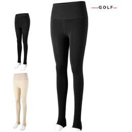 6908a79c2f40b PGM golf apparel women's Long pant leggings thickening plus velvet warm  clothing Golf lady winter high waist stepping feet pants