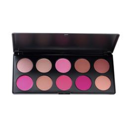 Color Powder Blusher UK - 1set Pro 10 Color Makeup Blush Face Blusher Powder Palette Cosmetics Professional Makeup Product best selling