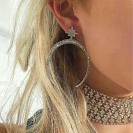 $enCountryForm.capitalKeyWord NZ - Magnificent, large brand style, half moon shape diamond , tassels, vintage earrings, water diamond earrings, women's earrings, suita