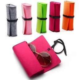 Fashion Portable Travel Storage Soft Glasses Bag Eyeglasses Pouch Sunglasses Protector Container Bag Glasses Cases Zipper Felt A Great Variety Of Models Men's Glasses