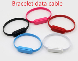 Discount color sync usb iphone Bracelet Hand Wrist Data Sync Charger Charging Type C USB Cable Fast Charging Portable Usb Charger Cable For Micro V8 fr