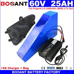 Motor Bicycles Australia - triangle E-bike Lithium Battery packs 60V 25AH Electric Bicycle Battery for Bafang 1500W 2000W Motor +5A Charger Free Shipping