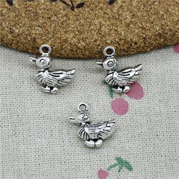 $enCountryForm.capitalKeyWord Australia - 46pcs Charms duck 17*17*8mm Tibetan Silver Vintage Pendants For Jewelry Making DIY Bracelet Necklace
