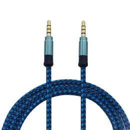 universal mobile connectors 2019 - Top Quality 1.5m 5ft 3M 10FT 3.5MM Universal Braid Aux Cable Unbroken Metal Connector Car Audio Extension Cable For Mobi