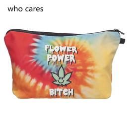 $enCountryForm.capitalKeyWord UK - Who Cares New Cosmetic Bag Women Portable Make Up Bag Case 3D Printing Dye Usa Flag Organizer Bolsa feminina Travel Toiletry