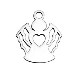 $enCountryForm.capitalKeyWord UK - Religious Charm Little Angle Pendant Stainless Steel High Quality Charms Lot For DIY Handmade Craft 30Piece Lot