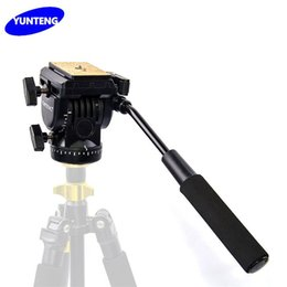 Discount dslr camera rails - YUNTENG YT-950 YT950 360 Degrees Hydraulic Pressure Fluid Drag Tripod Head For DSLR DV Video Camera Shooting Filming Sli