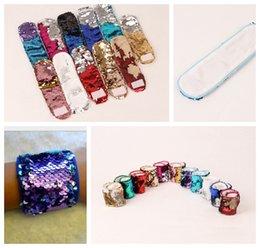 Mädchen Meerjungfrau Armband DIY Pailletten Armbänder Glitter Weihnachtsgeschenke Armband für Frauen Mädchen Meerjungfrau Armband Armband KKA3866