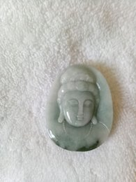 Carved Jadeite Pendant Australia - Certified Oily Green Natural Jade Jadeite Carved Guanyin Pendant[Grade A]