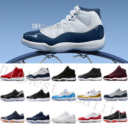 cheap basketball shoes size 11 NZ - Wholesale Cheap Hot New 11 OG Chicago Gym Red WIN LIKE 82 UNC men basketball shoes sports sneakers women 11s XI Top quality size US 5.5-13