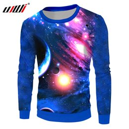 $enCountryForm.capitalKeyWord Canada - UJWI Galaxy Space Sweatshirts Hoodies Men Hip Hop Casual Pullovers Print Color Planet 3d Sweatshirt Hombre Crewneck Loose Sweats