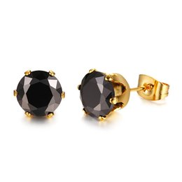 Stud Earrings Jewelry & Accessories Objective Jexxi Wholesale Good Quality Cubic Zirconia Jewelry Elegant Colorful Round Cut 925 Sterling Silver Cz Stud Earrings 8 Colors