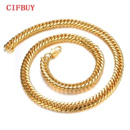 $enCountryForm.capitalKeyWord NZ - 8mm Chunky Luxury Gold Filled Curb Cuban Chains Necklace Thick Heavy Link Chain Men Necklace Customized Jewelry Gift