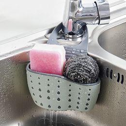 $enCountryForm.capitalKeyWord NZ - Kitchen Sponge Holder Stainless Steel Sink Caddy Organizer Drainer Rack for Dish Soap Dishwashing Liquid Brush with Anti Slip Grip - Wire Ba