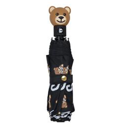 Ombrello di marca di lusso dell'orso dell'ombrello stampato portatile antivento ombrello pieghevole manico corto ombrello antipioggia per ombra