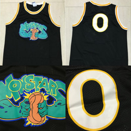 Alien 0 Space Jam Movie Basketball Jersey Monstars Tune Squad Black 100% Stitched  Alien Movie Basketball Shirts Mix Order 1ac280019