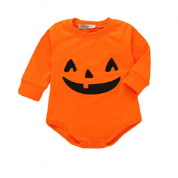$enCountryForm.capitalKeyWord UK - Mikrdoo Infant Toddler Baby Boys Girls Halloween Party Clothes Pumpkin Print Long Sleeve Romper Jumpsuit Clothing