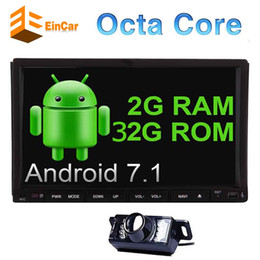 Chinese Double Din Stereo Australia - Reversing Camera+EinCar Android 7.1 Car DVD Player 7'' Double Din Car Stereo In Dash GPS Navigation Radio Multimedia System Bluetooth WiFi