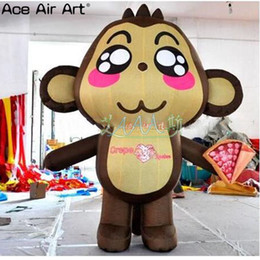Wholesale monkeys funny online – design funny m H inflatable animal cartoon monkey standing inflatable monkey for event decoration