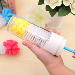 Wholesale Baby Bottle Brushes cleaning cup brush for nipple spout tube kids Feeding Cleaning Brush