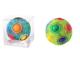 $enCountryForm.capitalKeyWord UK - The Explosion Selling Adult Children Decompression Magic Power Rainbow Luminous Ball Practical Vent Reduced Pressure Toy 8 36yc W
