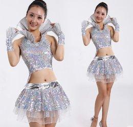 0de0e2c8 La Dance NZ - Stage Sequins Skirts Modern Dance Dress Costume Drum La-la-