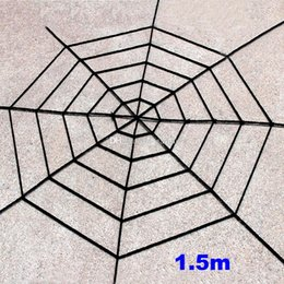 Web Housing Australia - Spider web Halloween Plush Toys Black White Cobweb Haunted House Bar Party Festive Prop Stage Indoor Outdoor Toys Party Supplies WX9-968