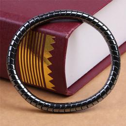 $enCountryForm.capitalKeyWord Australia - 1pc Bio Elements Energy Germanium Bracelets Black BoneBeads Magnetic Therapy Bracelet Bangles Health Fashion Jewelry