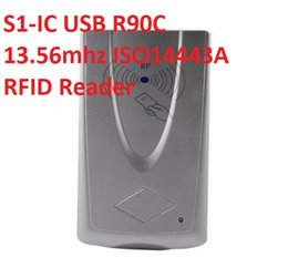 rfid access control chip UK - 10pcs lot S1-IC USB R90C RFID Reader Sliver 13.56MHZ Only Read Reader For Chip s50 s70 Access Control RFID Reader Free DHL