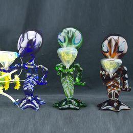 Farbige Alien Glaspfeifen 8