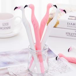 Pens Birds NZ - 1 Pcs Lovely Flamingos Bird Gel Pen Cute Pens Material Escolar Kawaii Stationery Canetas Escolar School Office Supplies