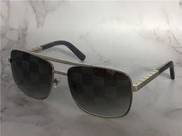 Chinese  vintage designer sunglasses for men attitude 0259 metal square frame blocks uv400 lens outdoor protection eyewear with orange box manufacturers