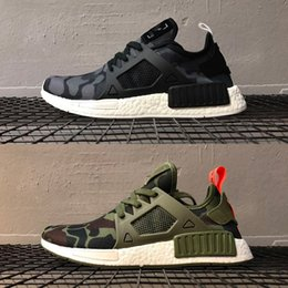 Duck shoes women online shopping - with box Original XR1 Primeknit OG Running Shoes for men womens fashion Sneaker Zebra Bred Blue Shadow Noise Duck Camo Fall Olive boots
