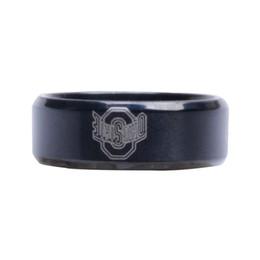 University Rings UK - New Arrival Black Ohio State University Sign Stainless Steel Men Ring Male Ring