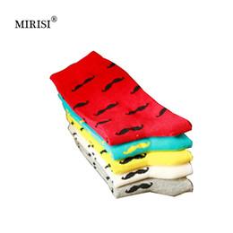 016f5a0e74675 MIRISI Hommes Chaussettes Casual Pur Coton Barbe Modèle Tube Chaussettes  Hommes De Mode Solide Couleur Drôle Heureux 2018 Vente Chaude 10 Paires