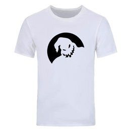 black white movie costume UK - Funny short sleeve T shirt Men America Movie Oogie Boogie printed Shirt Halloween Costume Dress Fashion casual crew neck tops tees DIY-0792D