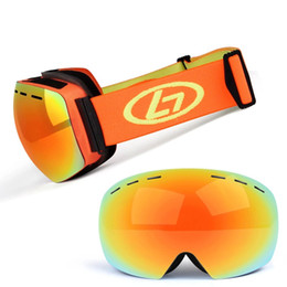 11f178be02d Women Ski Goggles UV400 anti-fog mask Eyewear Spherical Mirror Glasses  Skiing Snowboard Goggles Double Lens Pink Orange Frame