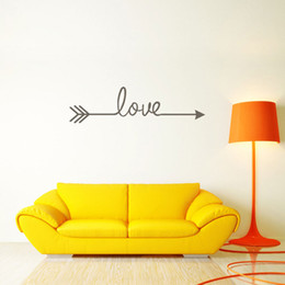 Love Wall Stickers For Bedrooms Australia - Arrows Love Wall Stickers Living Room Bedroom Carved Poster Wall Murals for Home Bedroom Decor Free shipping