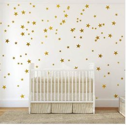 blackboard stickers for walls Canada - Nordic style Five-pointed star Wall Sticker DIY Wall Art Decals for kids children bedroom nursery home decoration stars Stickers