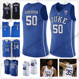 895b6b80e7c 2019 NCAA Duke Blue Devils  30 Antonio Vrankovic 50 Justin Robinson 51 Mike  Buckmire 53 Brennan Besser 41 Jack white black royal Jerseys
